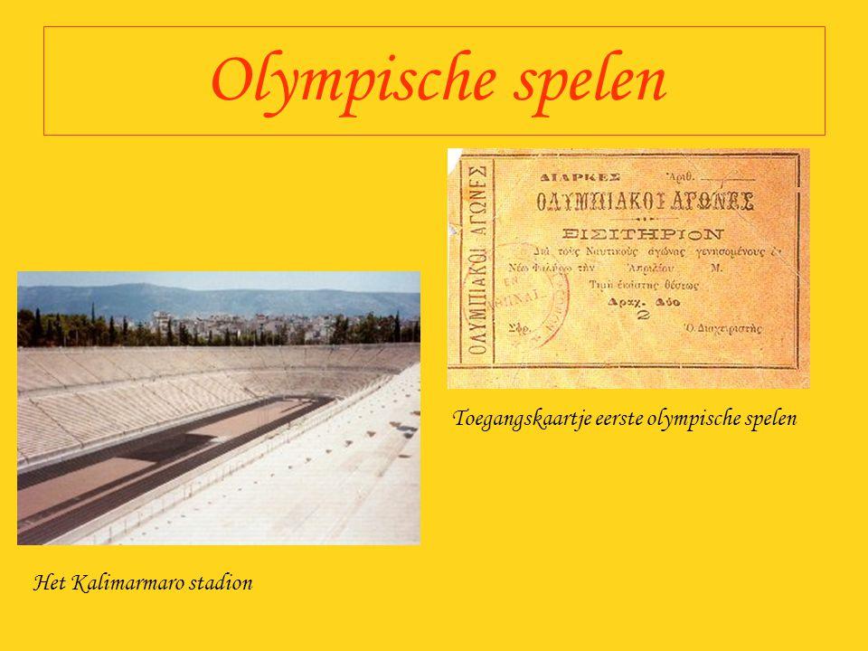 Olympische spelen Toegangskaartje eerste olympische spelen Het Kalimarmaro stadion