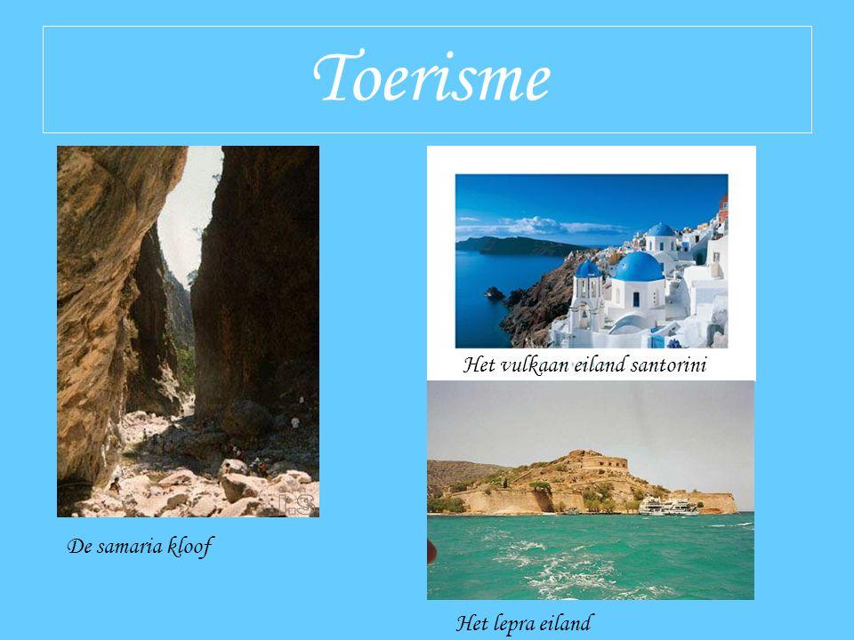 Toerisme De samaria kloof Het vulkaan eiland santorini Het lepra eiland