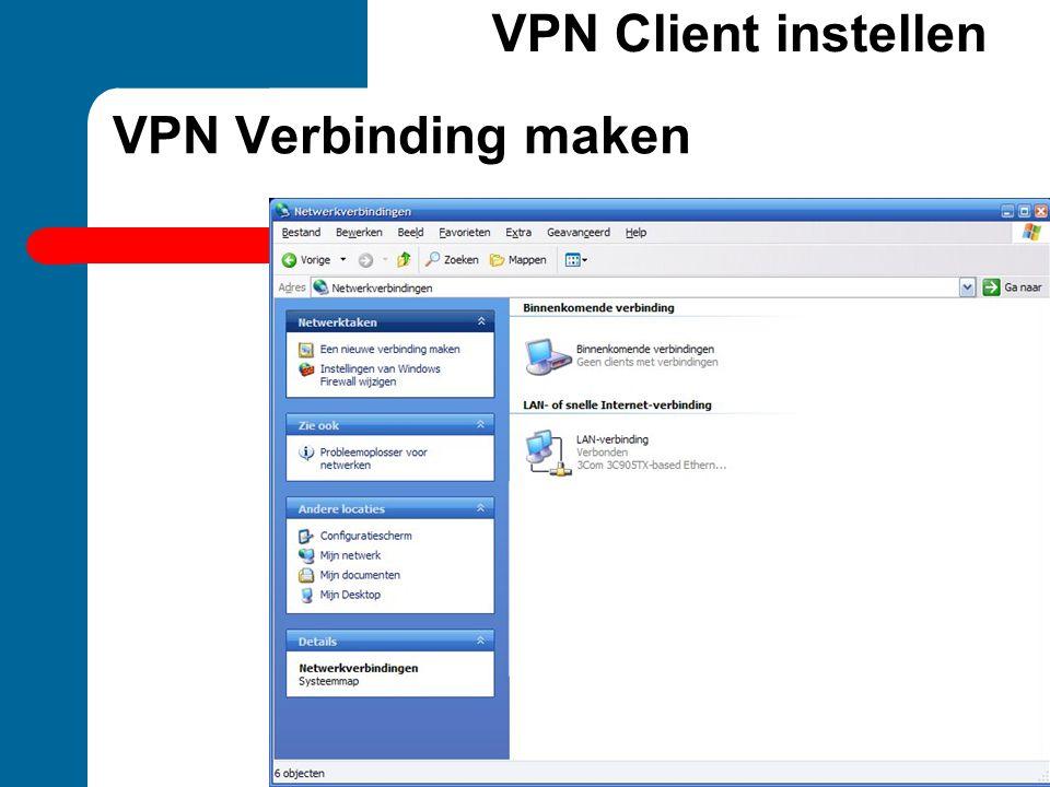 VPN Client instellen