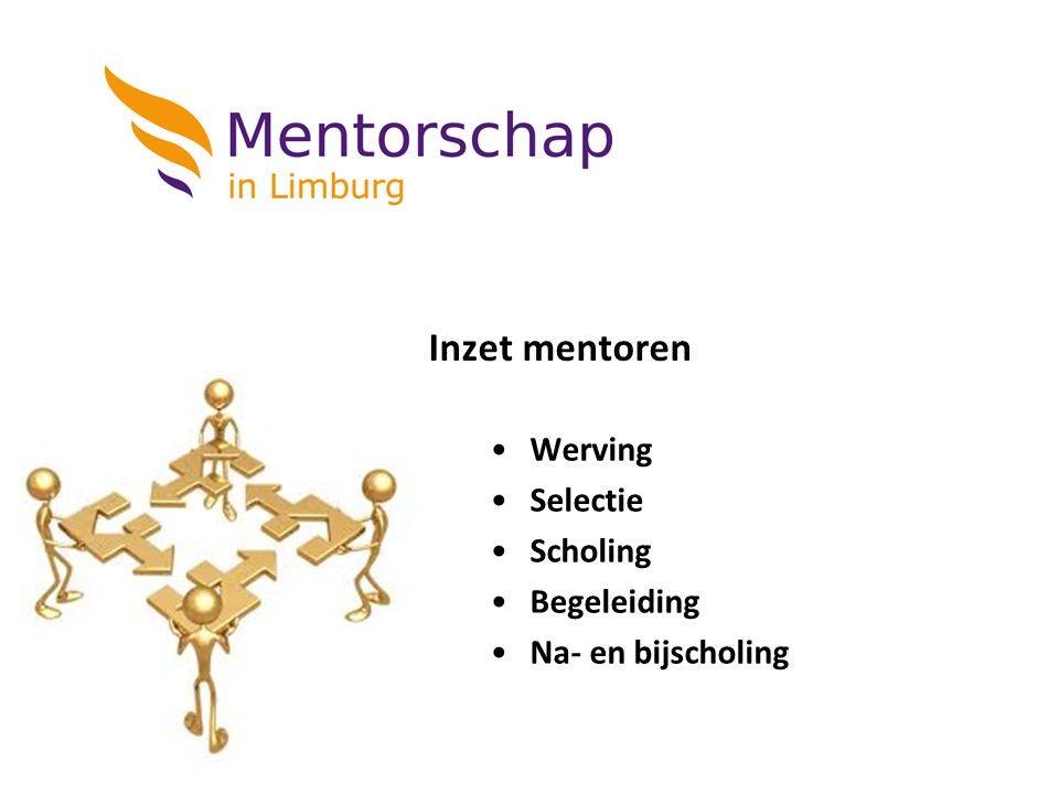 Inzet mentoren Werving Selectie Scholing Begeleiding Na- en bijscholing