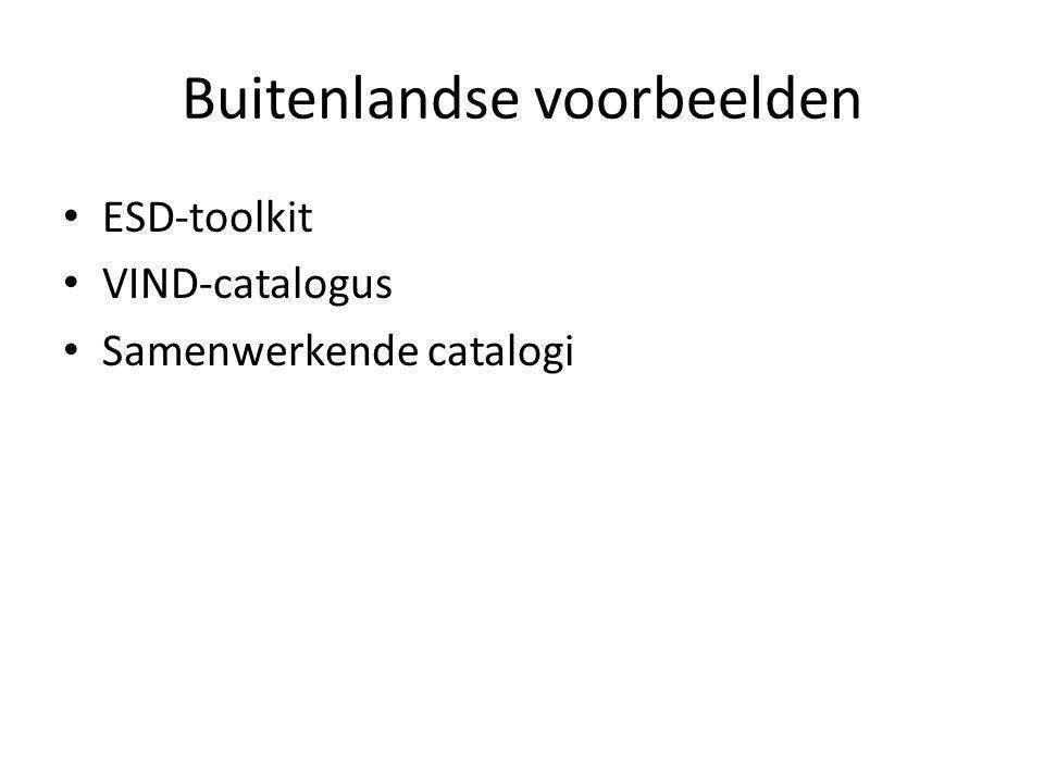 Buitenlandse voorbeelden ESD-toolkit VIND-catalogus Samenwerkende catalogi