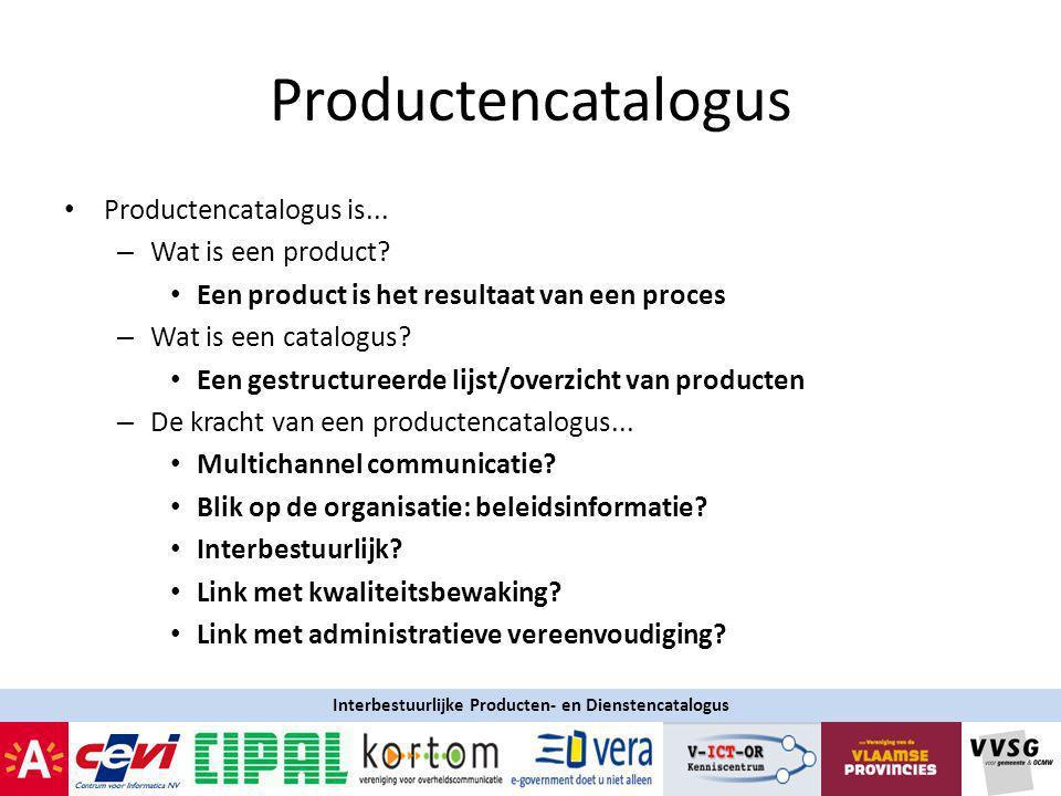 Productencatalogus Productencatalogus is...– Wat is een product.