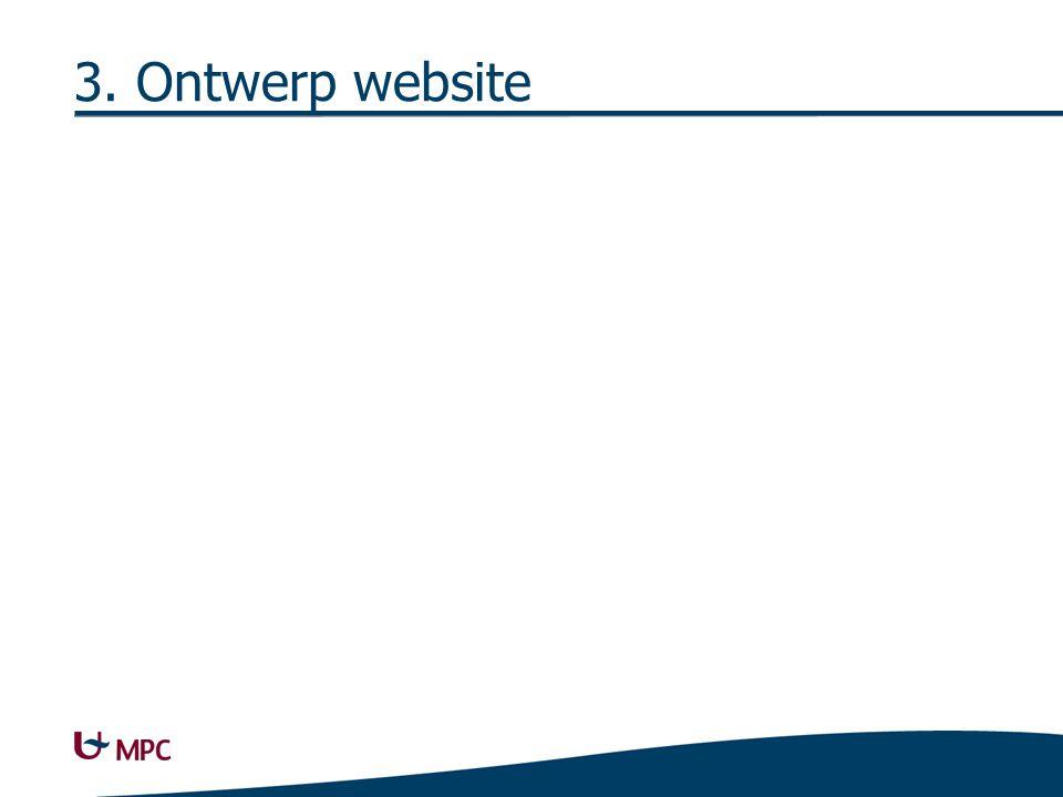 3. Ontwerp website