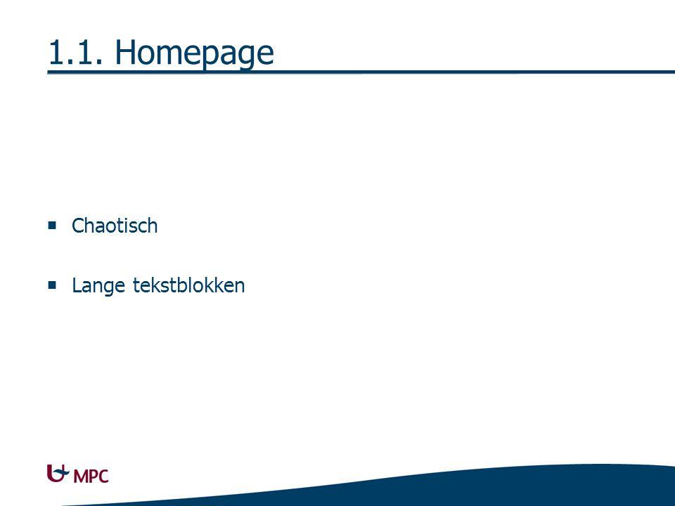 1.1. Homepage  Chaotisch  Lange tekstblokken