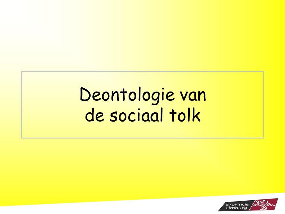 Deontologie van de sociaal tolk