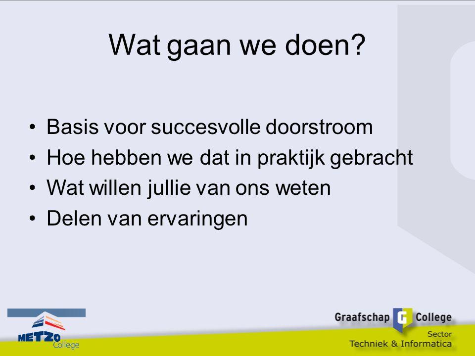 Basis voor succes Afstemming op pedagogisch didactisch gebied is het moeilijkste onderdeel in de doorstroom vmbo-mbo.