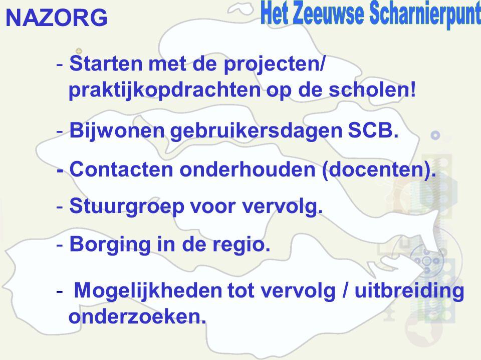 NAZORG - Starten met de projecten/ praktijkopdrachten op de scholen.