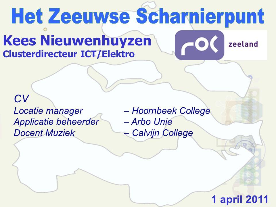 WERKVOORBEREIDING - Het Zeeuwse Scharnierpunt.- Stichting Consortium Beroepsonderwijs.