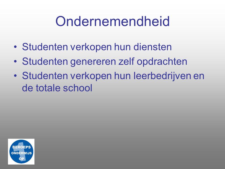 Trots Studenten komen graag naar school Studenten willen leren Studenten komen direct in contact met opdrachtgevers ROC Topper