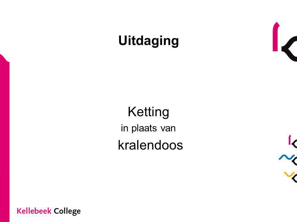 Uitdaging Ketting in plaats van kralendoos