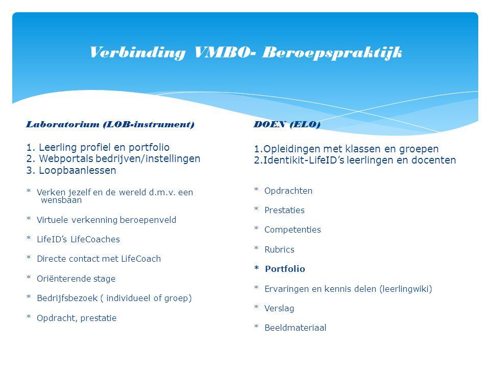 Verbinding VMBO- Beroepspraktijk Laboratorium (LOB-instrument) 1.