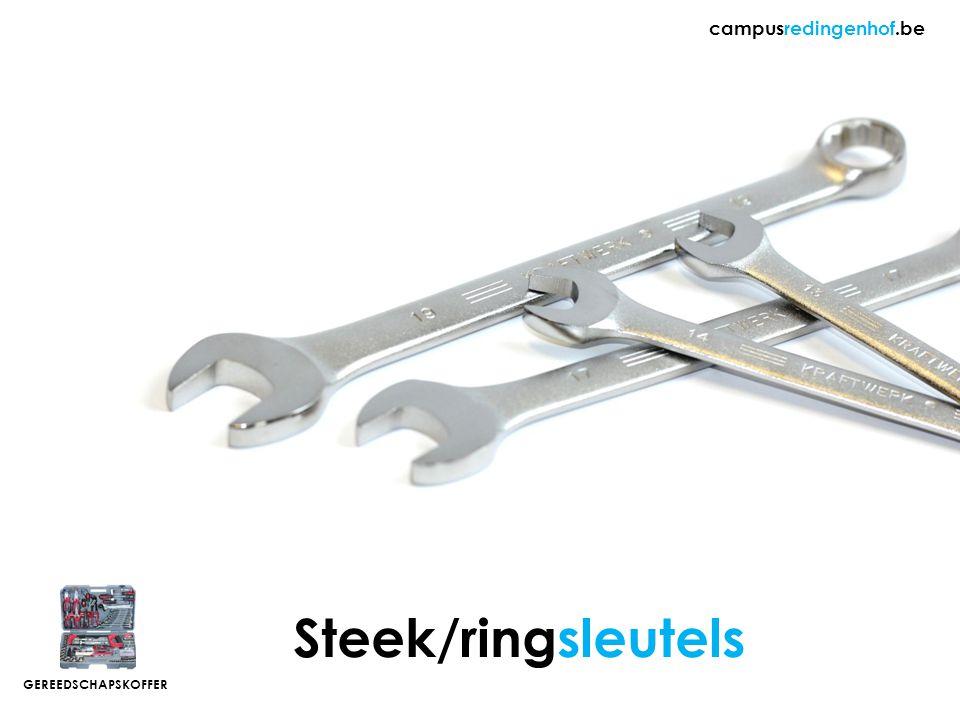 Steek/ringsleutels campusredingenhof.be GEREEDSCHAPSKOFFER