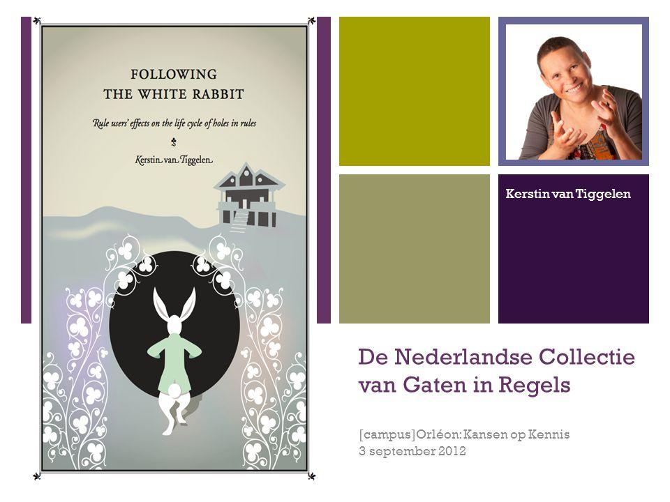 + De Nederlandse Collectie van Gaten in Regels [campus]Orléon: Kansen op Kennis 3 september 2012 Kerstin van Tiggelen