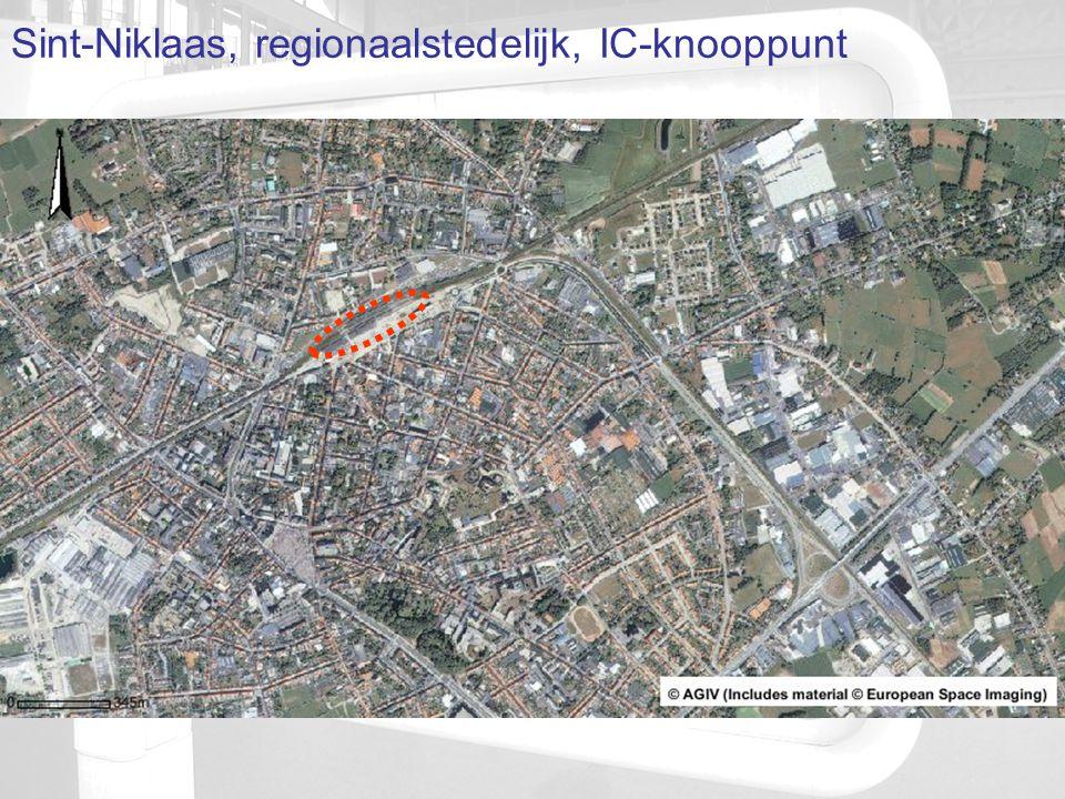 Sint-Niklaas, regionaalstedelijk, IC-knooppunt