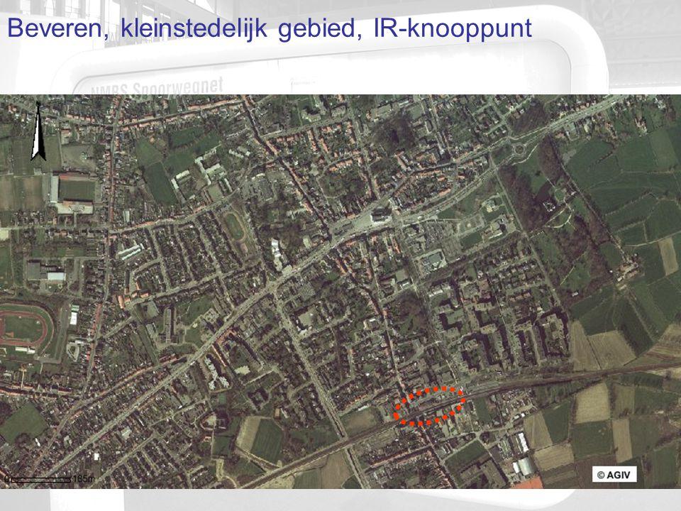 Beveren, kleinstedelijk gebied, IR-knooppunt