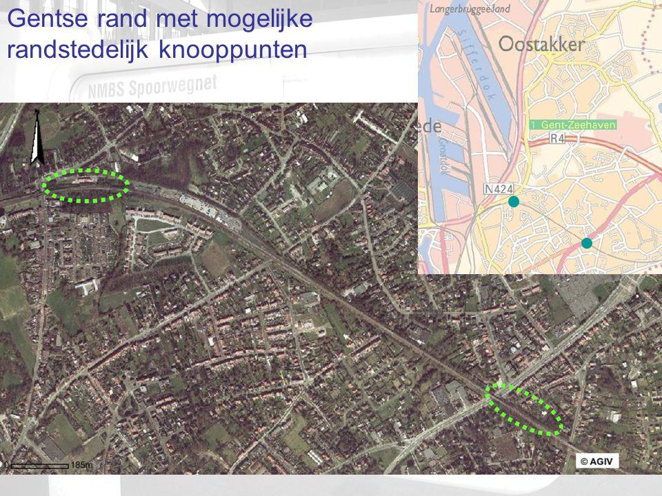 Gentse rand met mogelijke randstedelijk knooppunten