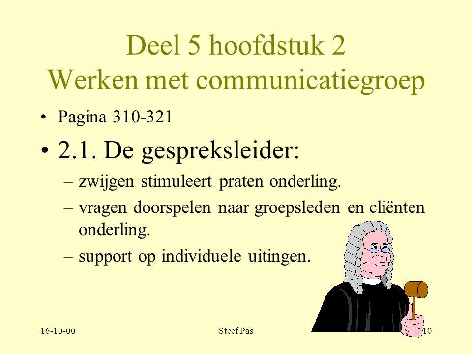 16-10-00Steef Pas9 Deel 5 hoofdstuk 1 Werken met een leefgroep.