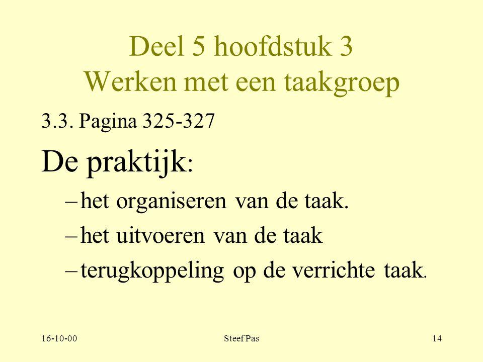 16-10-00Steef Pas13 Deel 5 hoofdstuk 3 Werken met een taakgroep 3.2.