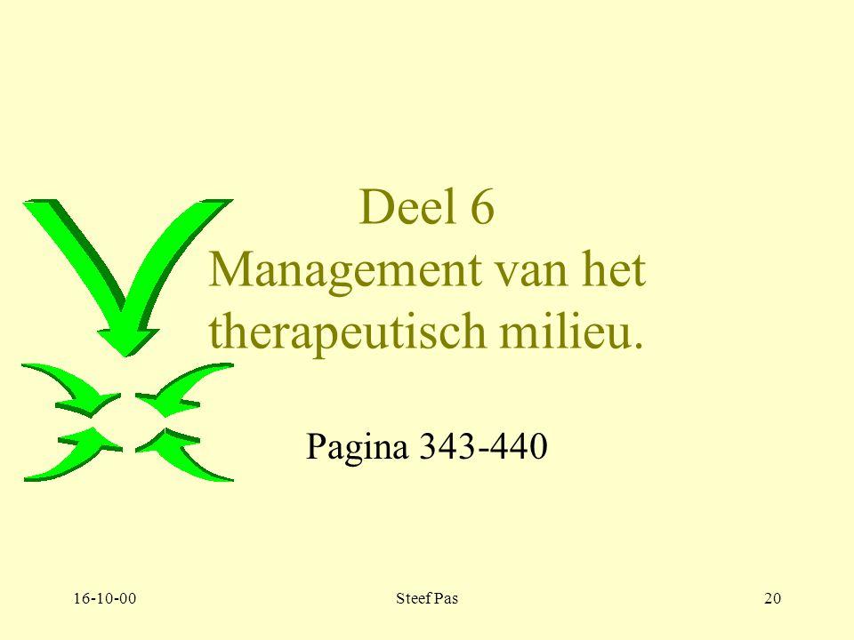 16-10-00Steef Pas19 Deel 5. hoofdstuk 4. Het therapeutisch milieu en de activiteitentherapie 4.2.