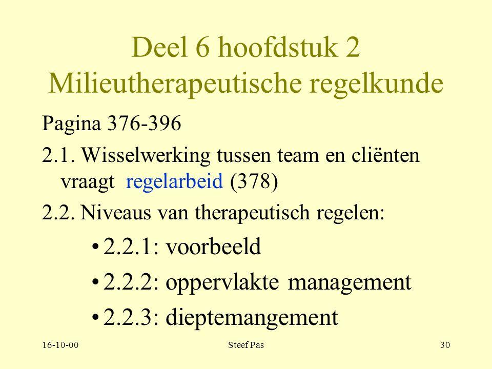 16-10-00Steef Pas29 Deel 6 Management van het therapeutisch milieu.