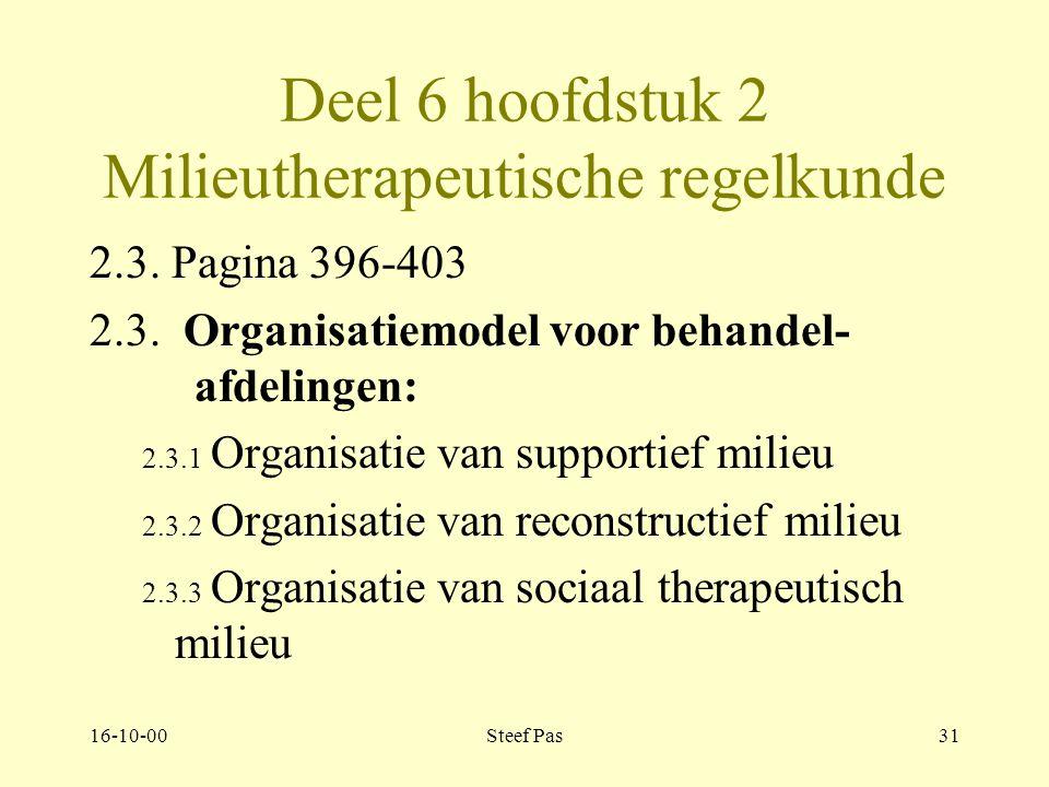 16-10-00Steef Pas30 Deel 6 hoofdstuk 2 Milieutherapeutische regelkunde Pagina 376-396 2.1.