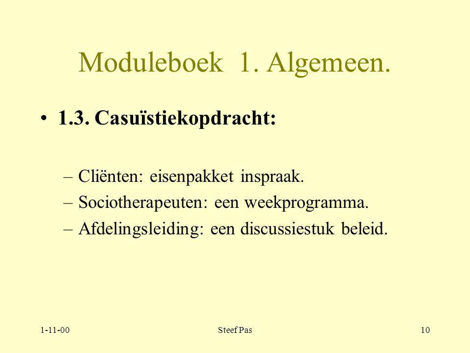 1-11-00Steef Pas9 Moduleboek 1.Algemeen. 1.2.