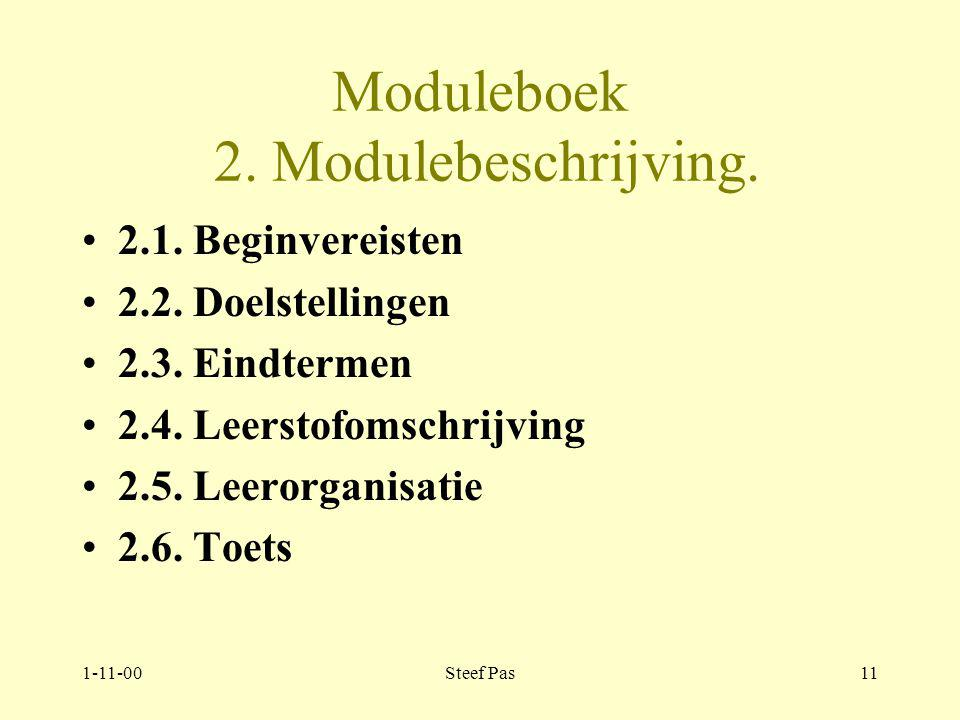 1-11-00Steef Pas10 Moduleboek 1.Algemeen. 1.3.