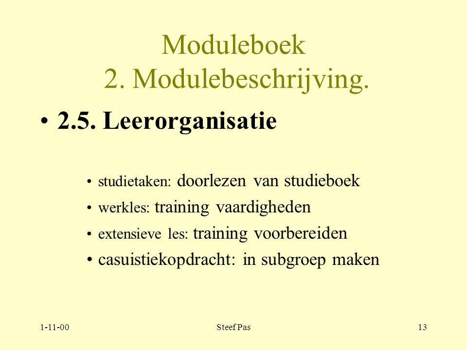 1-11-00Steef Pas12 Moduleboek 2.Modulebeschrijving.