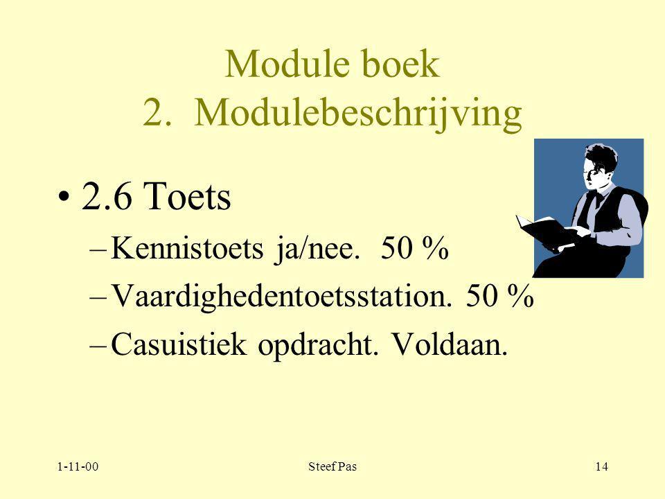 1-11-00Steef Pas13 Moduleboek 2.Modulebeschrijving.