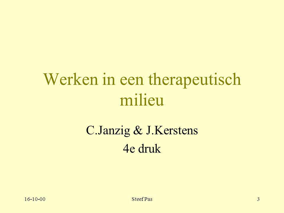 16-10-00Steef Pas3 Werken in een therapeutisch milieu C.Janzig & J.Kerstens 4e druk