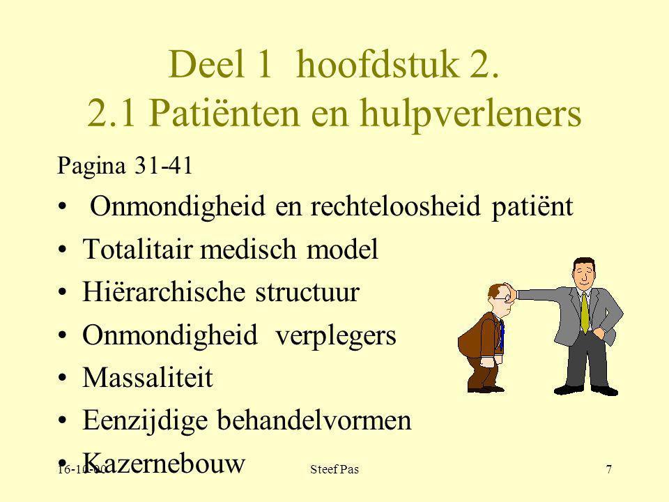 16-10-00Steef Pas47 Deel 2 hoofdstuk 3 Vormen therapeutisch milieu Pagina 127-129 Het reconstructieve model: reconstructie van de verdedigingsmechanismen in het defensief systeem d.m.v.