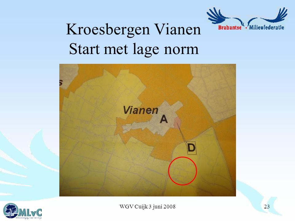 WGV Cuijk 3 juni 200823 Kroesbergen Vianen Start met lage norm