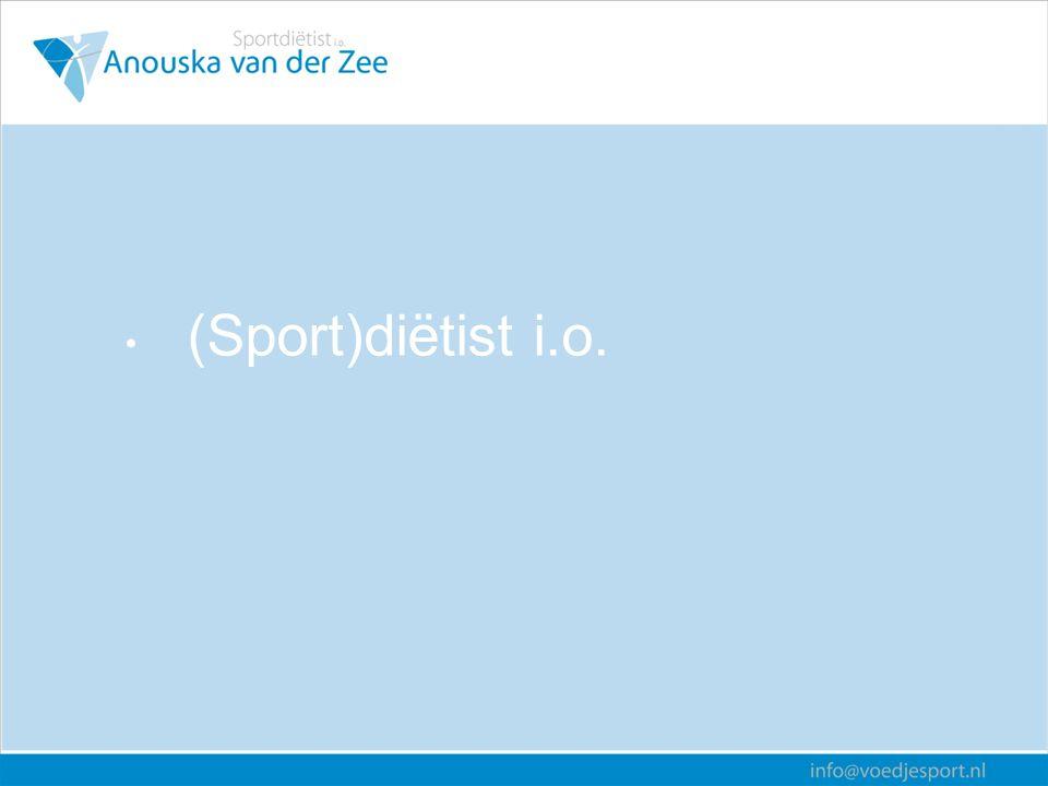 (Sport)diëtist i.o.