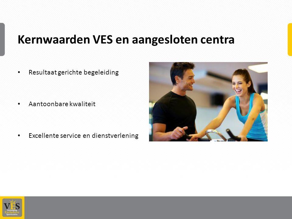 Kernwaarden VES en aangesloten centra Resultaat gerichte begeleiding Aantoonbare kwaliteit Excellente service en dienstverlening