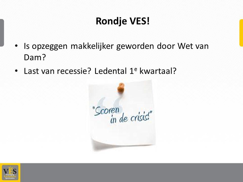 Rondje VES.Is opzeggen makkelijker geworden door Wet van Dam.
