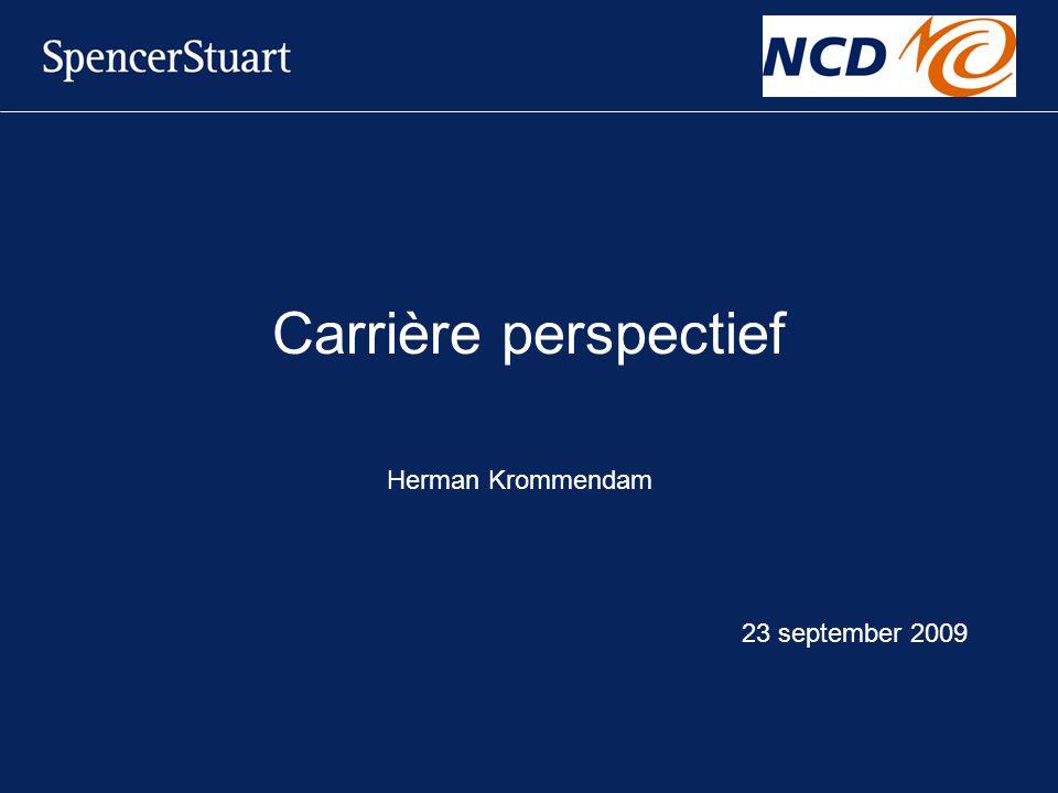 Carrière perspectief Herman Krommendam 23 september 2009