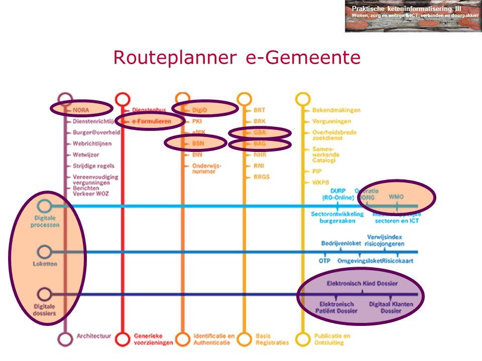 Praktische keteninformatisering III Wonen, zorg en welzijn & ICT: verbinden en doorpakken! Routeplanner e-Gemeente