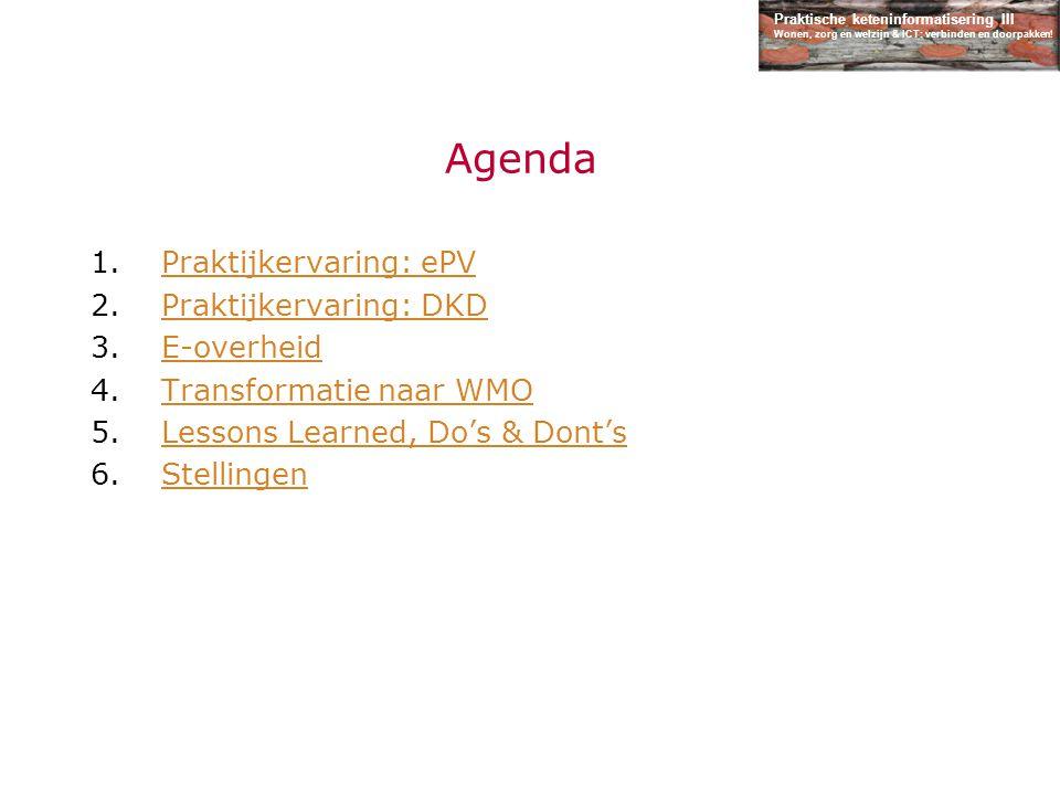 Praktische keteninformatisering III Wonen, zorg en welzijn & ICT: verbinden en doorpakken.