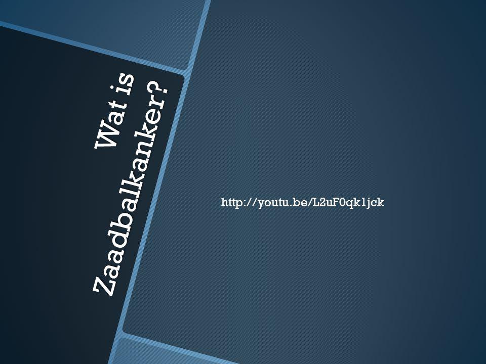 Wat is Zaadbalkanker? http://youtu.be/L2uF0qk1jck