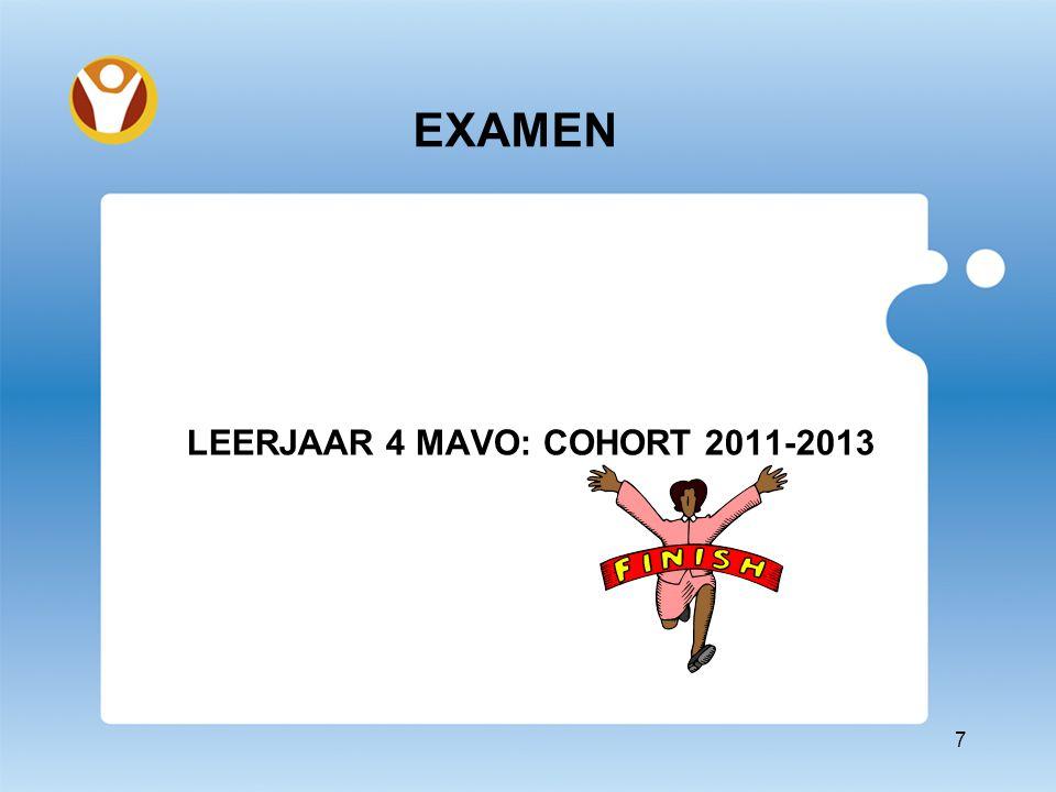 EXAMEN LEERJAAR 4 MAVO: COHORT 2011-2013 7