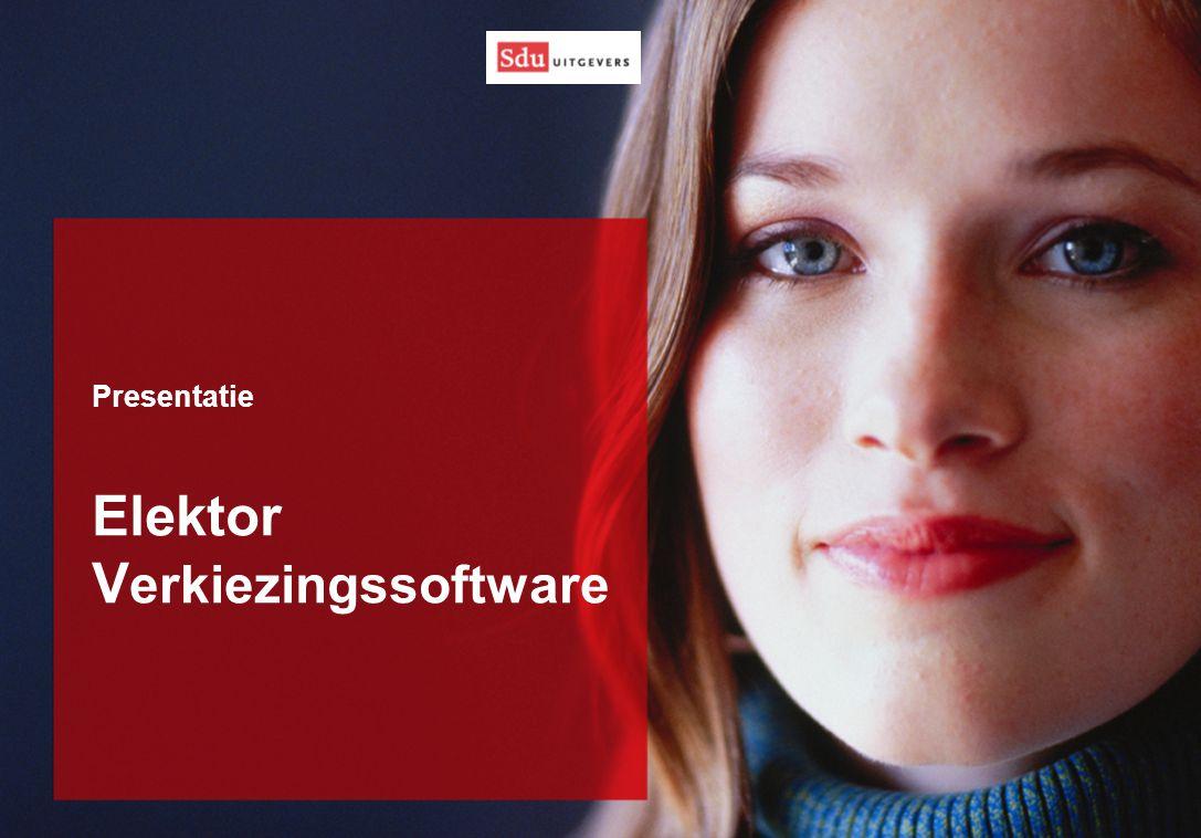 Presentatie Elektor V erkiezingssoftware