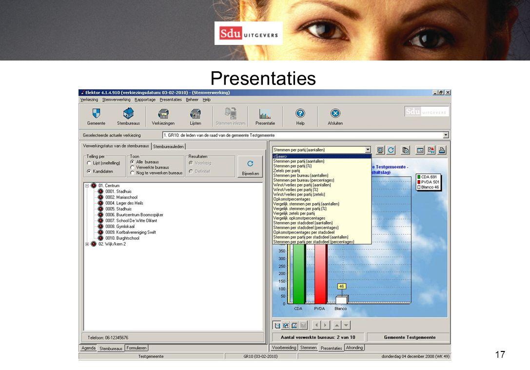 17 Presentaties