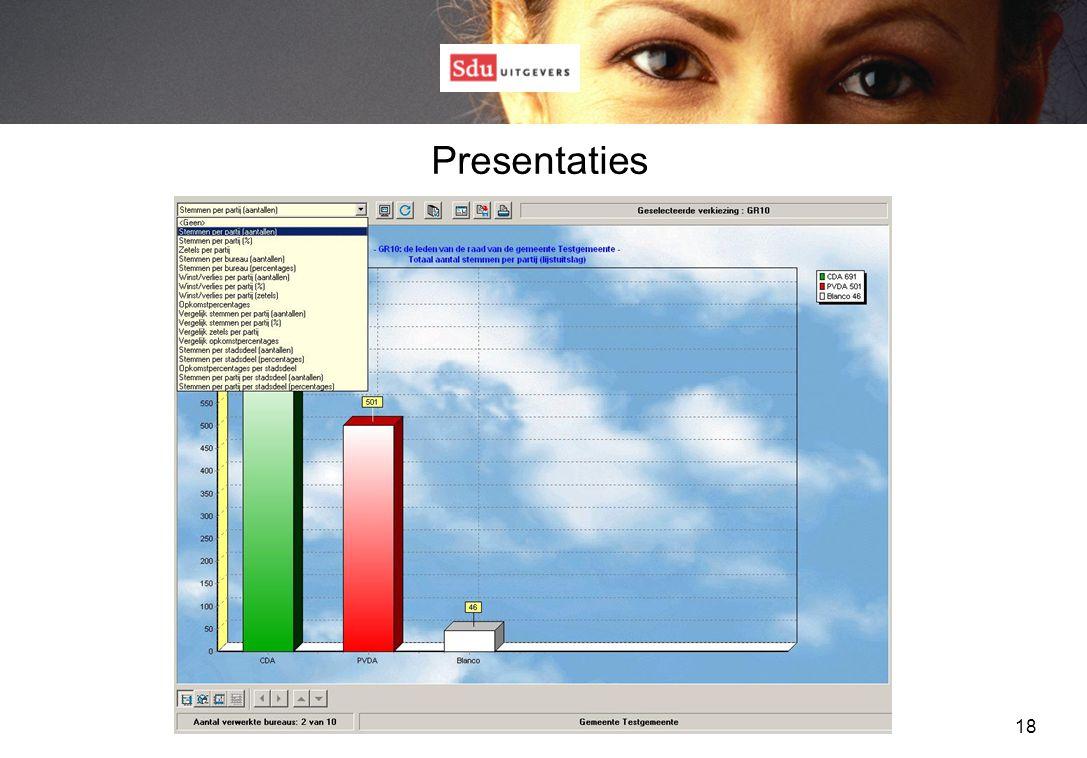 18 Presentaties