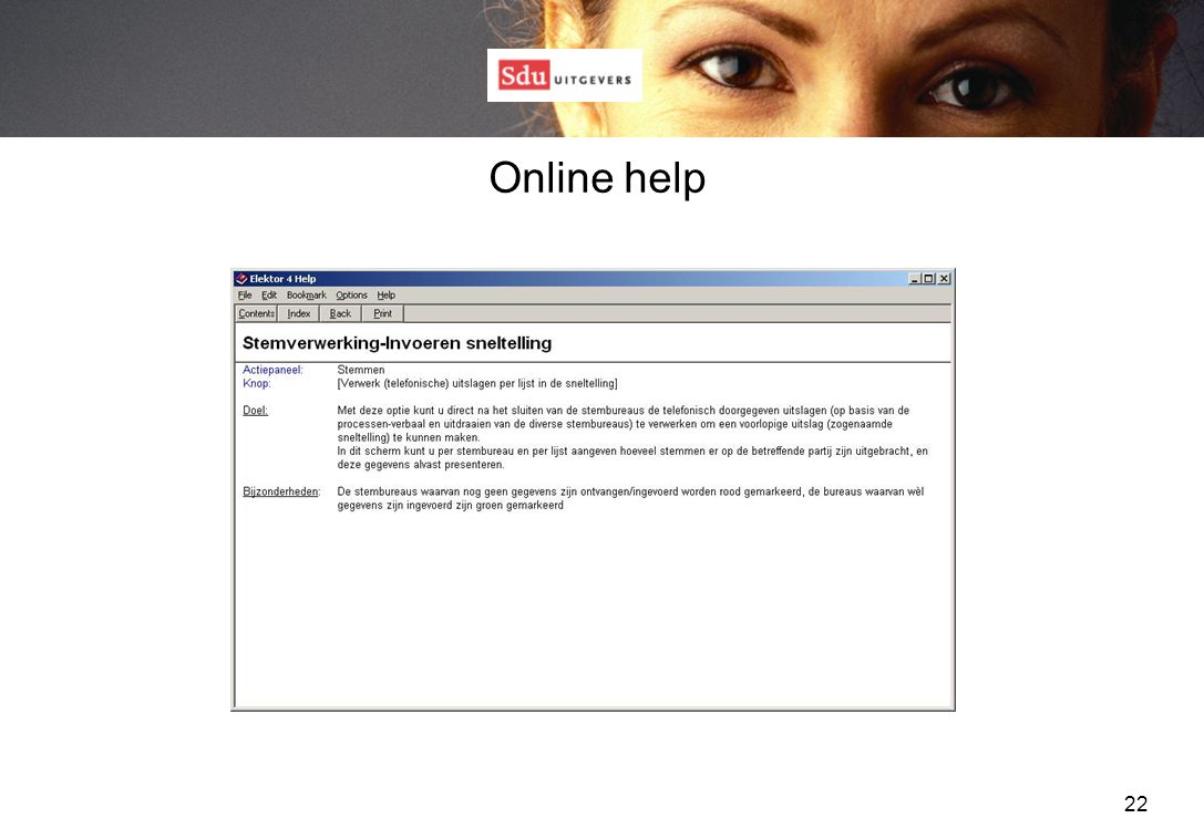 22 Online help