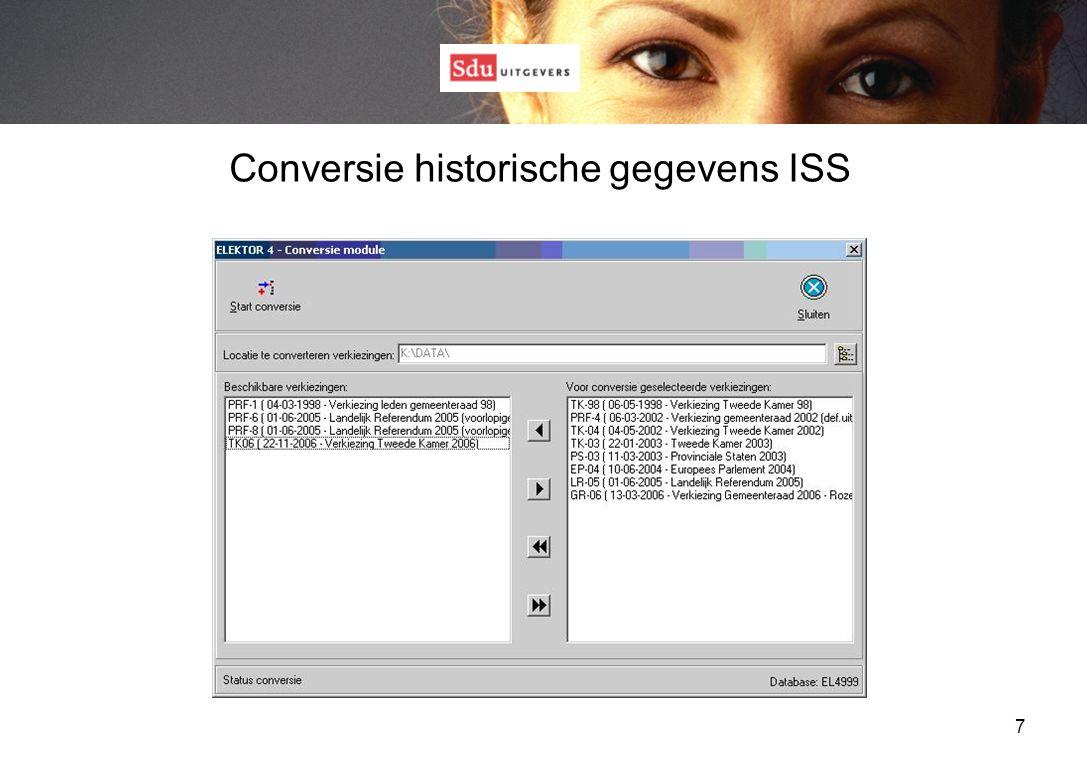 7 Conversie historische gegevens ISS