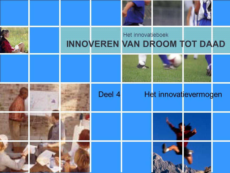 Het innovatieboek Deel 4Het innovatievermogen Het innovatieboek INNOVEREN VAN DROOM TOT DAAD