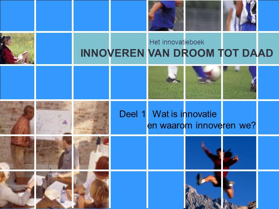 Het innovatieboek 1.1De betekenis van innovatie 1.2Waarom bedrijven innoveren Deel 1.Wat is innovatie, en waarom innoveren we?