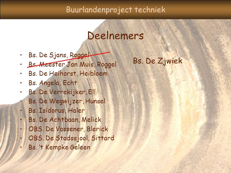 Buurlandenproject techniek Deelnemers Bs.De Sjans, Roggel Bs.