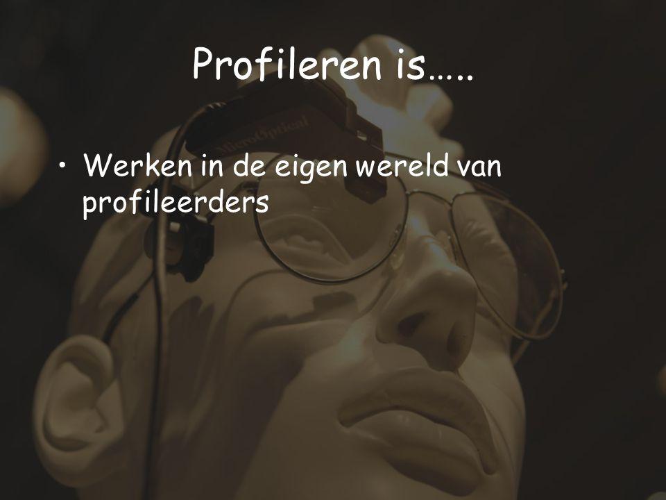 Profileren is….. Werken in de eigen wereld van profileerders