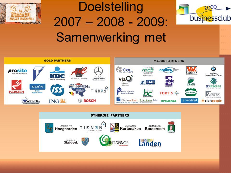 Doelstelling 2007 – 2008 - 2009: Samenwerking met SYNERGIE PARTNERS
